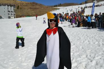 A student gets dressed up for Winterfest. Photo courtesy of Jessica Guerrentz.